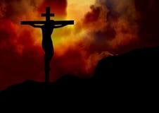 Jesus på det argt Arkivbilder