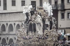 Jesus before Pilate, Holy Week in Seville, Brotherhood of San Benito Stock Photography