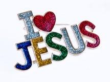 Jesus Pin. Religous pin - wearing your faith Stock Photography