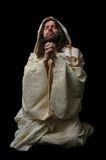 Jesus in prayer_Full body Royalty Free Stock Photos