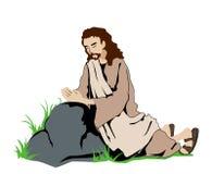 Jesus Praying Stock Image