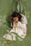 Jesus praying in agony. Jesus in agony praying in the garden of olives before his crucifixion Stock Images
