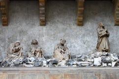 Jesus praying. In the garden of Gethsemane Stock Photos
