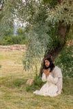 Jesus praying in gethsemane Royalty Free Stock Image