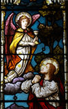 Jesus praying in Gethsemane (stained glass) Stock Image