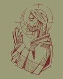 Jesus Praying Royalty Free Stock Images