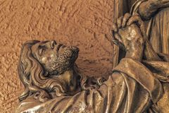 Jesus with praying hands. Jesus Christ with praying hands Royalty Free Stock Photo