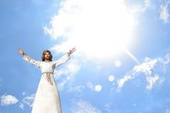 Jesus Praying Healing Blessing Stock Photos