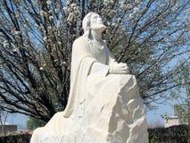 Jesus, pregante nel giardino Fotografia Stock Libera da Diritti