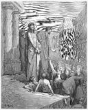 Jesus Is Presented to the People. Picture from The Holy Scriptures, Old and New Testaments books collection published in 1885, Stuttgart-Germany. Drawings by