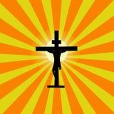 jesus przecinający sunburst Fotografia Stock