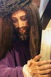 Jesus que carreg a cruz Imagens de Stock