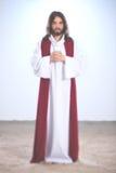 Jesus que diz uma oração fotos de stock