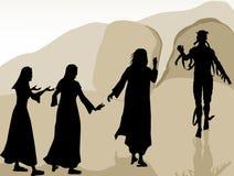 Jesus Raised Lazarus Royaltyfri Fotografi