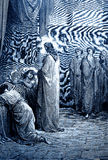 Jesus Raises de Dochter van Jairus vector illustratie