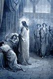 Jesus Raises la hija de Jairus ilustración del vector
