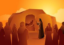 Free Jesus Raises Lazarus From The Dead Royalty Free Stock Images - 133205269