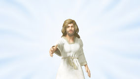 Jesus Giving Us a Helping Hand Stock Image
