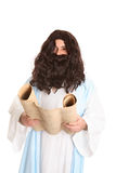 Jesus reading the scriptures Royalty Free Stock Photo