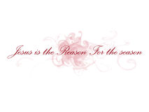 Jesus is the reason for the season. Illustration Royalty Free Stock Images
