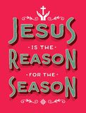 Jesus is the Reason for the Season Stock Image