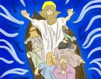 Jesus Rebuke The Storm illustration stock