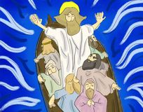 Jesus Rebuke The Storm Royalty Free Stock Photo