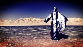 Jesus the Redeemer. Walking on water Stock Photo