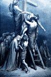 Jesus Removed da cruz ilustração stock