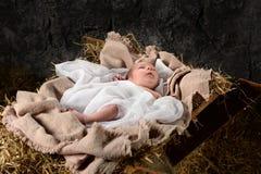Jesus Resting on Manger Royalty Free Stock Photography