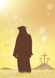 Jesus Resurrection vektor illustrationer
