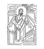 Jesus Resurrection c. Hand drawn vector illustration or drawing of Jesus at his Resurrection Stock Images