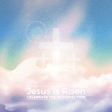 Jesus is risen,  Easter illustration with transparency and gradient mesh. Jesus is risen,  Easter religious illustration with transparency and gradient mesh Stock Images