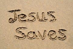 Jesus risparmia. fotografia stock libera da diritti