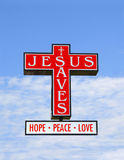 Jesus risparmia Fotografia Stock Libera da Diritti