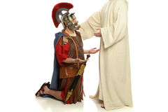 Jesus and a Roman Soldier Stock Photography
