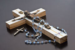 Jesus and rosary. White background isolate stock images