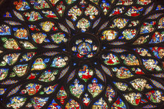 Jesus Rose Window Stained Glass Sainte Chapelle Paris France arkivfoton