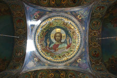 Jesus Russian Mosaic Royalty Free Stock Image