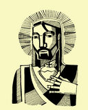 Jesus Sacred Heart Royalty Free Stock Photo