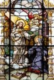 Jesus and Saint Margaret Mary Alacoque Royalty Free Stock Photo