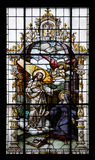 Jesus and Saint Margaret Mary Alacoque Stock Photography