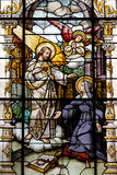 Jesus and Saint Margaret Mary Alacoque Stock Image