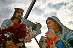 jesus saintveronica Arkivfoton
