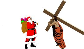 Jesus-Santa Royalty Free Stock Photo