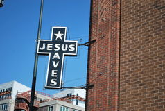 Jesus Saves Lizenzfreie Stockfotos