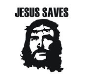 Jesus saves Royalty Free Stock Photography
