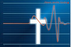 Jesus saves lives royalty free illustration