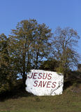 Jesus Saves road sign Stock Images