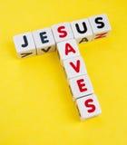 Jesus saves Stock Photography